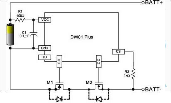 锂电池过充电,过放电,短路保护电路详解